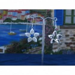LE 0286 Earrings Shiva Eye Shell Silver