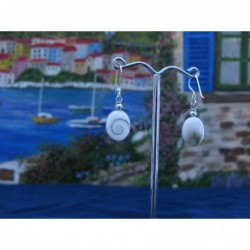 LE 0288 Earrings Shiva Eye Shell Silver