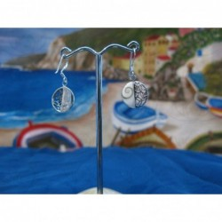 LE 0297 Earrings Shiva Eye Shell Silver