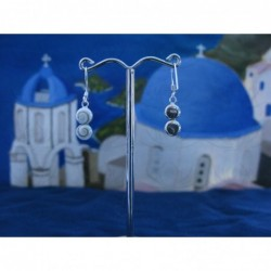 LE 0298 Earrings Shiva Eye Shell Silver