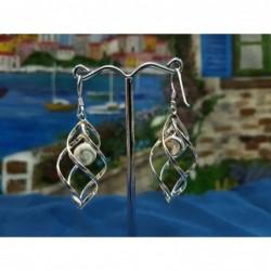 LE 0308 Earrings Shiva Eye Shell Silver