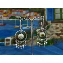 LE 0311 Earrings Shiva Eye Shell Silver