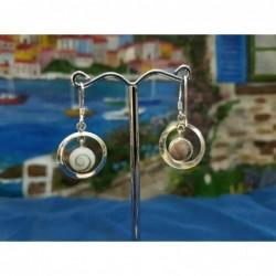 LE 0312 Earrings Shiva Eye Shell Silver