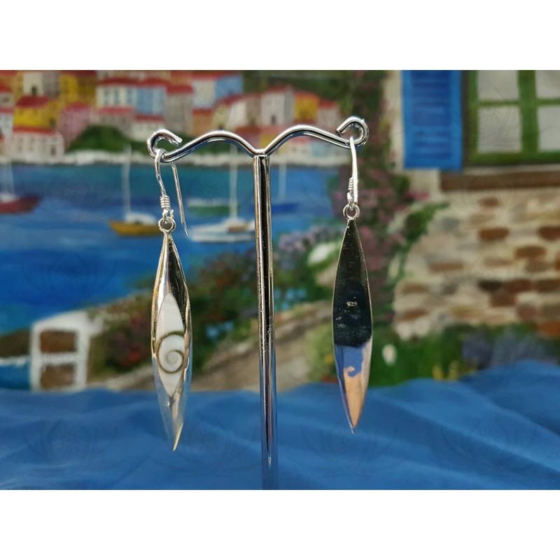 LE 0313 Earrings Shiva Eye Shell Silver