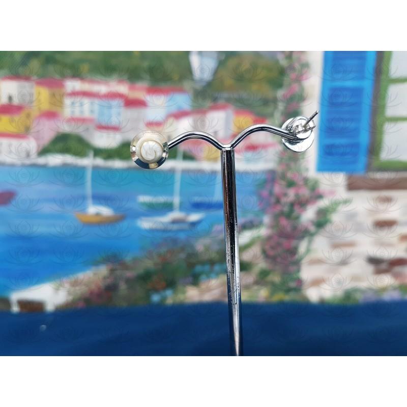 LE 0314s Earrings Shiva Eye Shell Silver