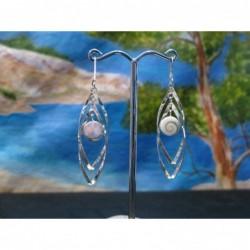 LE 0351 Earrings Shiva Eye Shell Silver