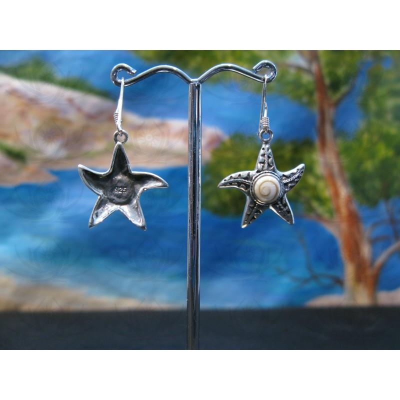 LE 0353 Earrings Shiva Eye Shell Silver