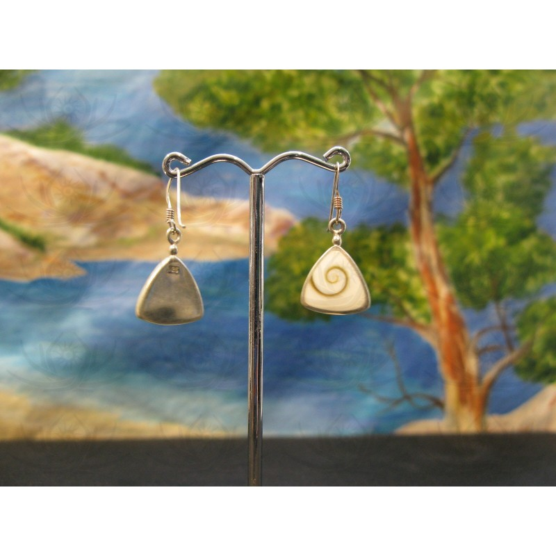 LE 0355 Earrings Shiva Eye Shell Silver