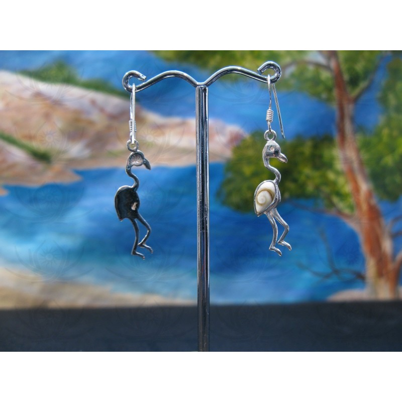 LE 0357 Earrings Shiva Eye Shell Silver