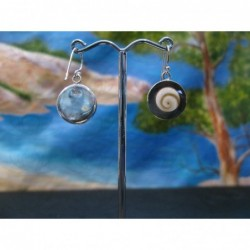 LE 0359 Earrings Shiva Eye Shell Silver