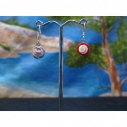 LE 0362 Earrings Shiva Eye Shell Silver