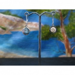LE 0363 Earrings Shiva Eye Shell Silver