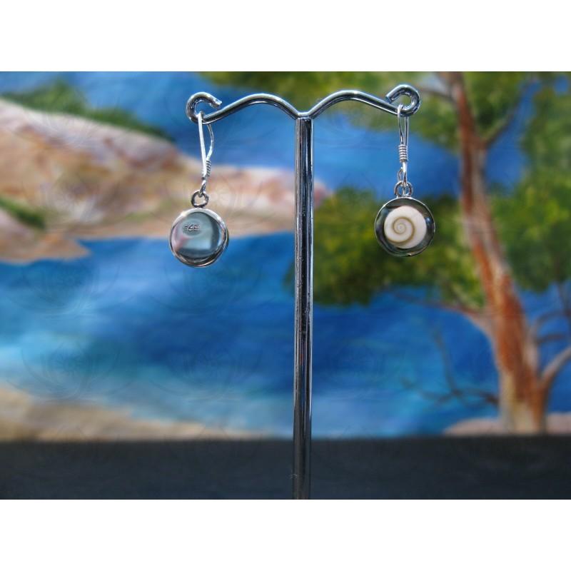 LE 0363 Earrings Shiva Eye Shell Silver