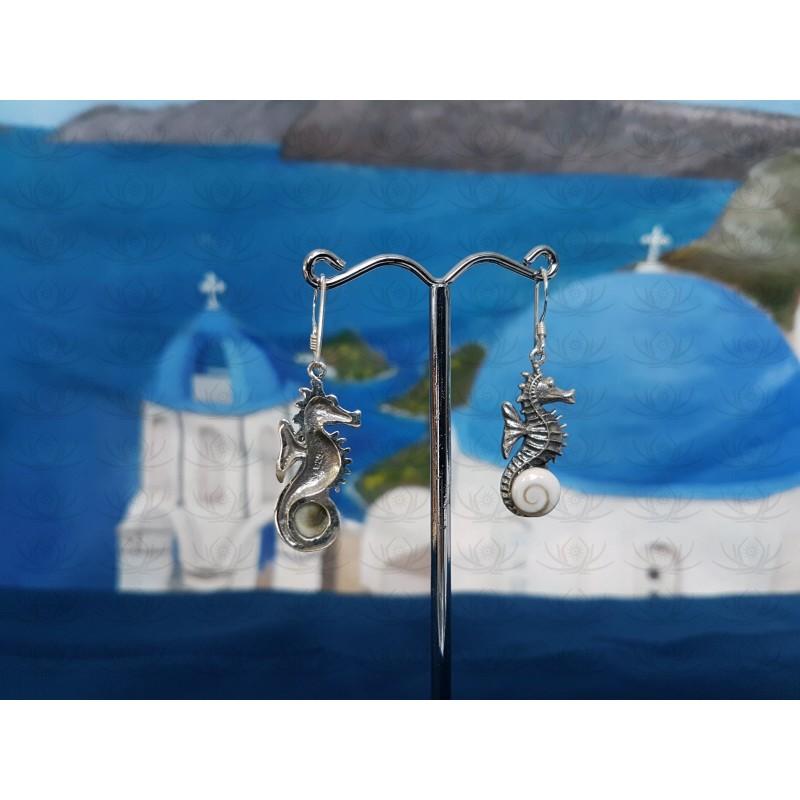 LE 0367 Earrings Shiva Eye Shell Silver