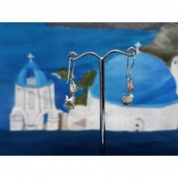 LE 0368 Earrings Shiva Eye Shell Silver