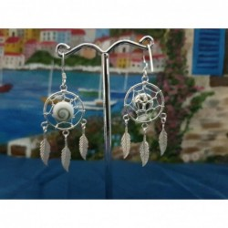 LE 0375 Earrings Shiva Eye Shell Silver