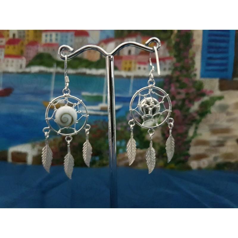 LE 0375 Earrings Shiva Eye Shell Silver
