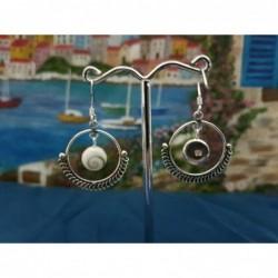 LE 0381 Earrings Shiva Eye Shell Silver