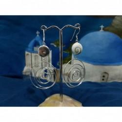LE 0398 Earrings Shiva Eye Shell Silver