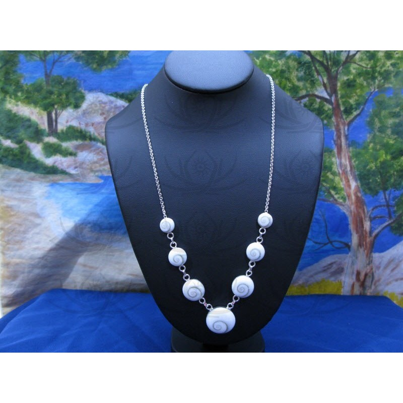 NS 0025 Necklace Shiva Eye Shell Silver