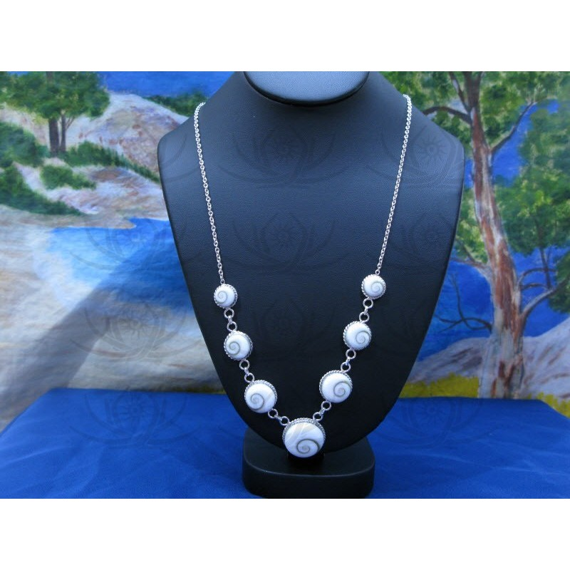 NS 0060 Necklace Shiva Eye Shell Silver