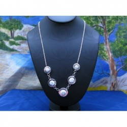 NS 0064 Necklace Shiva Eye Shell Silver