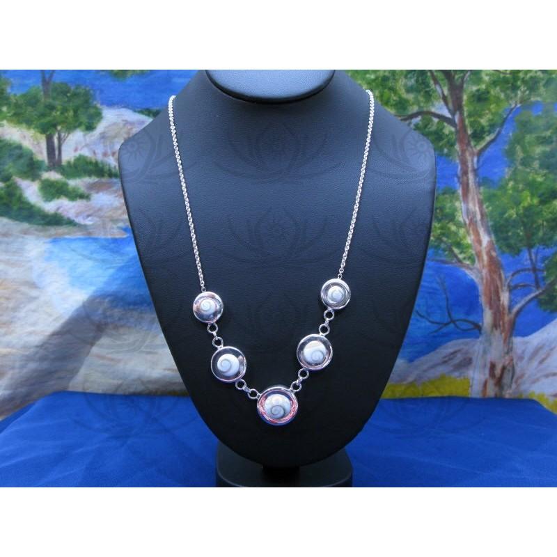 NS 0064 Necklace Shiva Eye Shell Silver