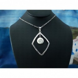 SP 0006 Pendant Shiva Eye Shell Silver