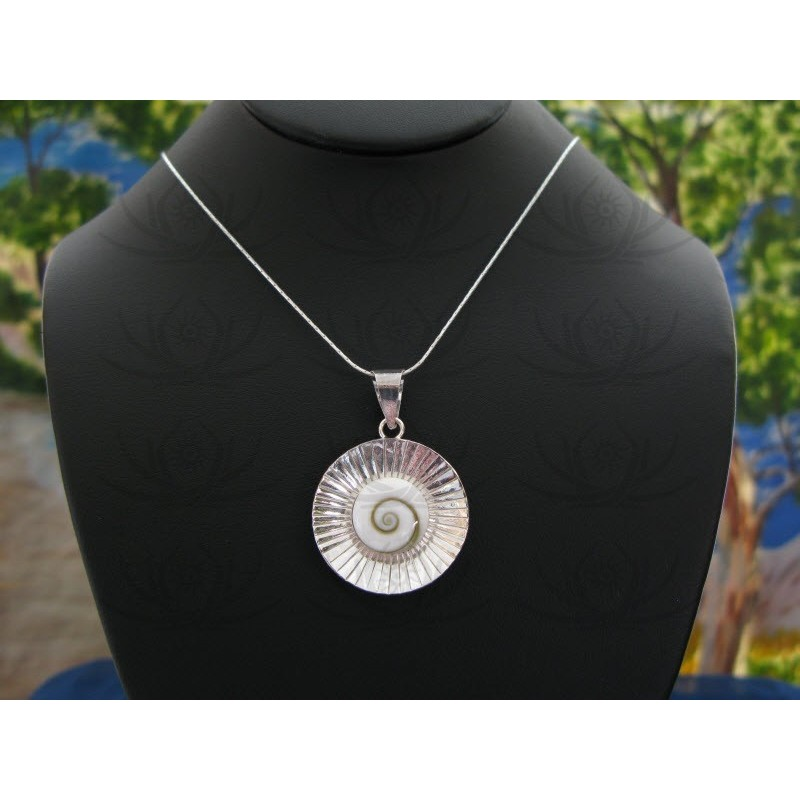 SP 0008 Pendant Shiva Eye Shell Silver