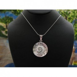 SP 0015 Pendant Shiva Eye Shell Silver