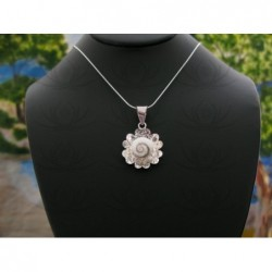 SP 0019 Pendant Shiva Eye Shell Silver