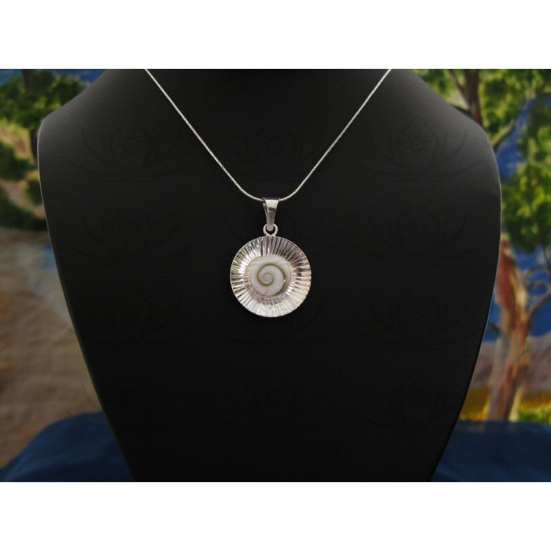SP 0032 Pendant Shiva Eye Shell Silver