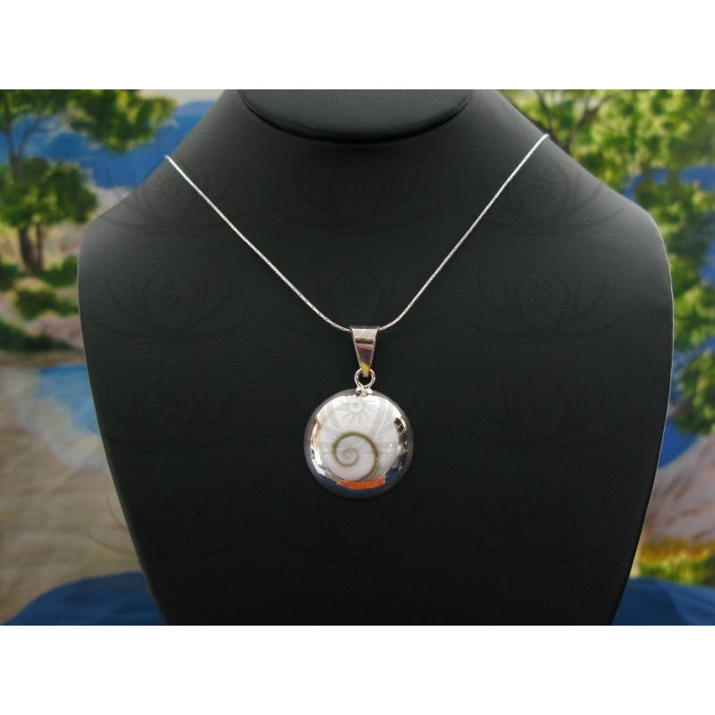 SP 0043 Pendant Shiva Eye Shell Silver