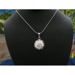 SP 0055 Pendant Shiva Eye Shell Silver