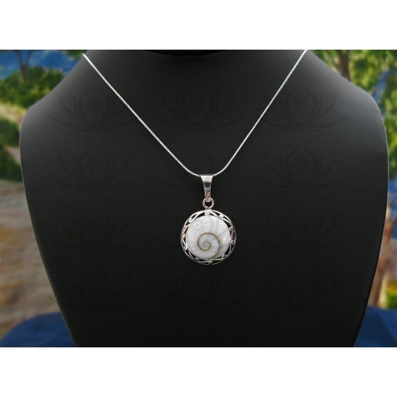 SP 0055 Pendant Shiva Eye Shell Silver