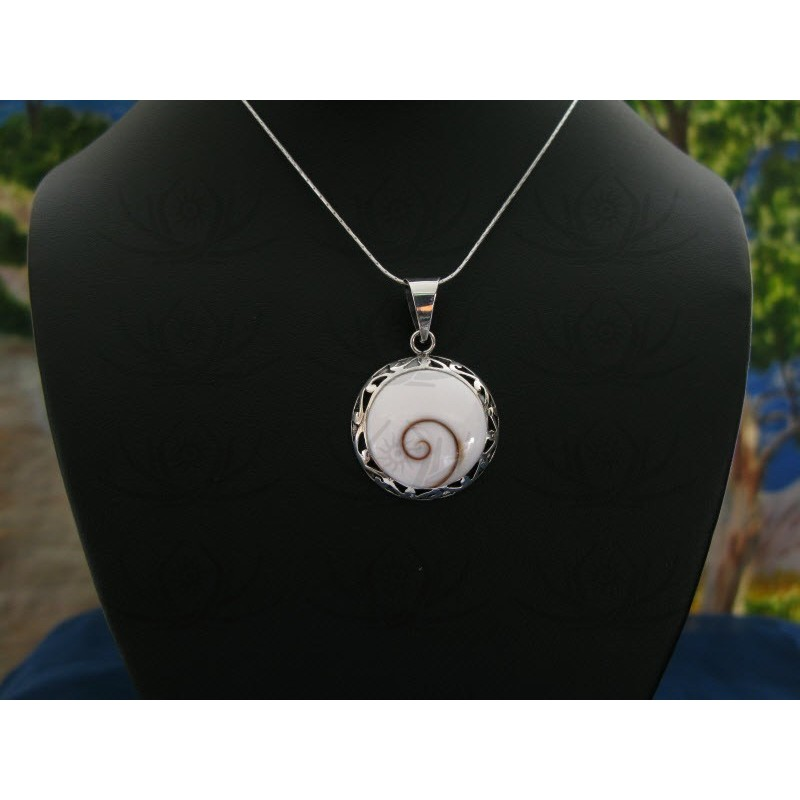 SP 0056 Pendant Shiva Eye Shell Silver