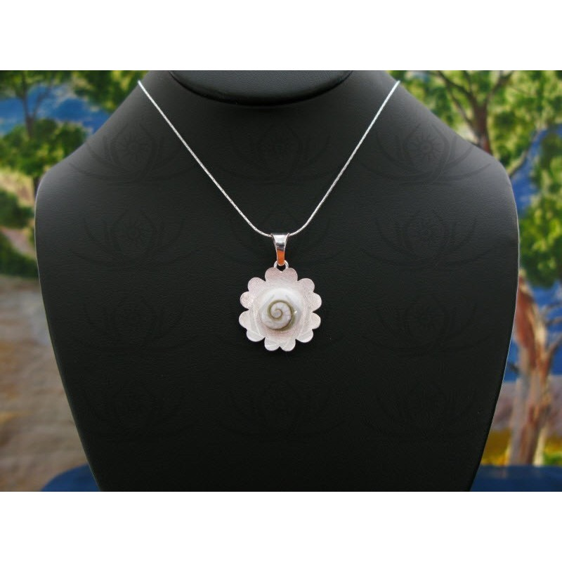 SP 0063 Pendant Shiva Eye Shell Silver
