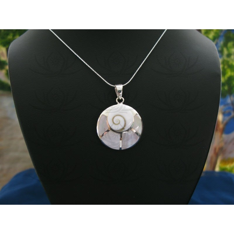 SP 0083 Pendant Shiva Eye Shell Silver