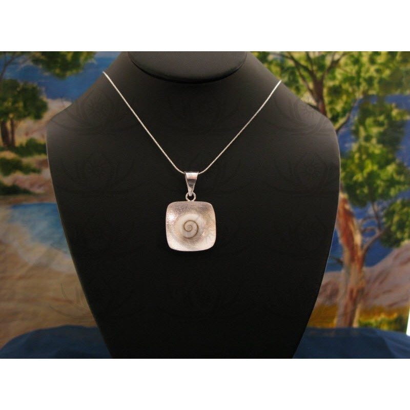 SP 0089 Pendant Shiva Eye Shell Silver