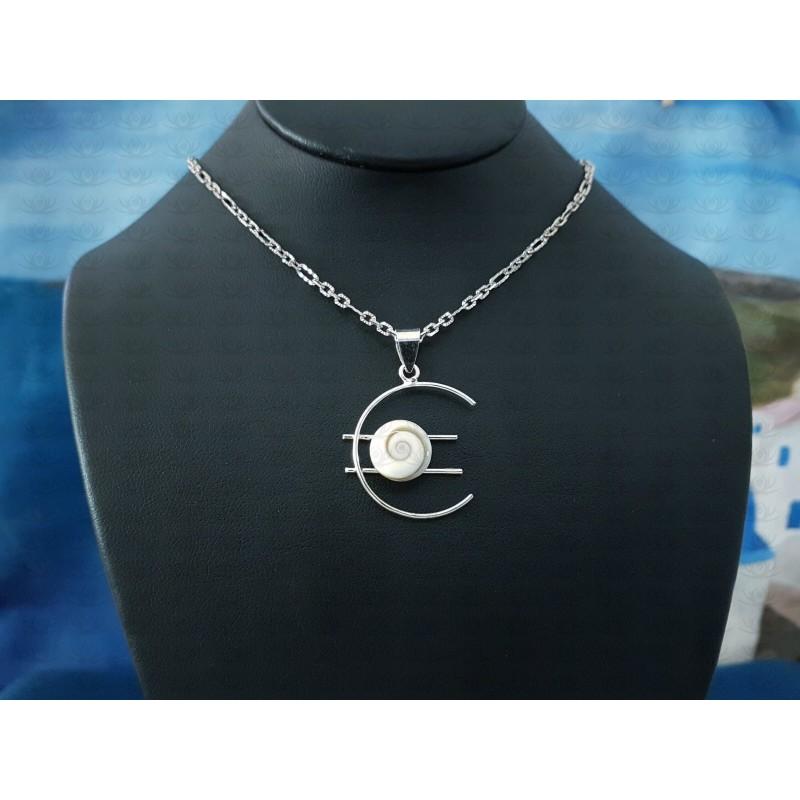 SP 0090 Pendant Shiva Eye Shell Silver