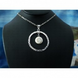 SP 0092 Pendant Shiva Eye Shell Silver