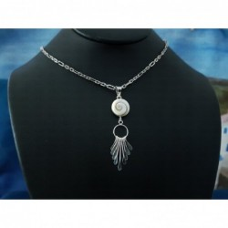 SP 0093 Pendant Shiva Eye Shell Silver