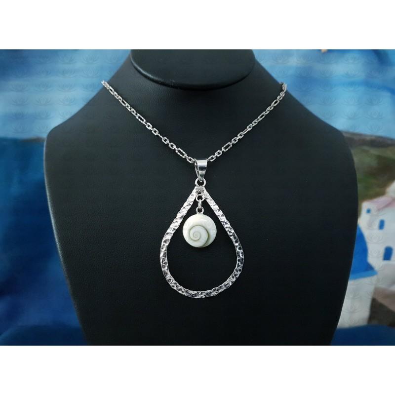 SP 0096 Pendant Shiva Eye Shell Silver
