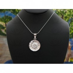 SP 0120 Pendant Shiva Eye Shell Silver