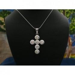 SP 0144 Pendant Shiva Eye Shell Silver