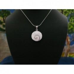 SP 0180 Pendant Shiva Eye Shell Silver