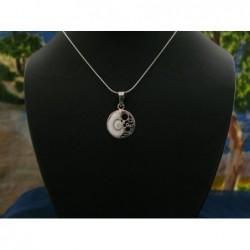 SP 0185 Pendant Shiva Eye Shell Silver