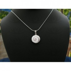 SP 0189 Pendant Shiva Eye Shell Silver