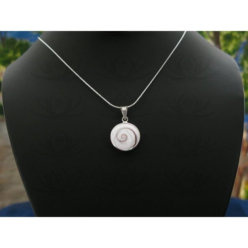 SP 0189 Pendant Shiva Eye Shell Silver
