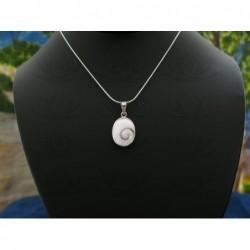 SP 0190 Pendant Shiva Eye Shell Silver